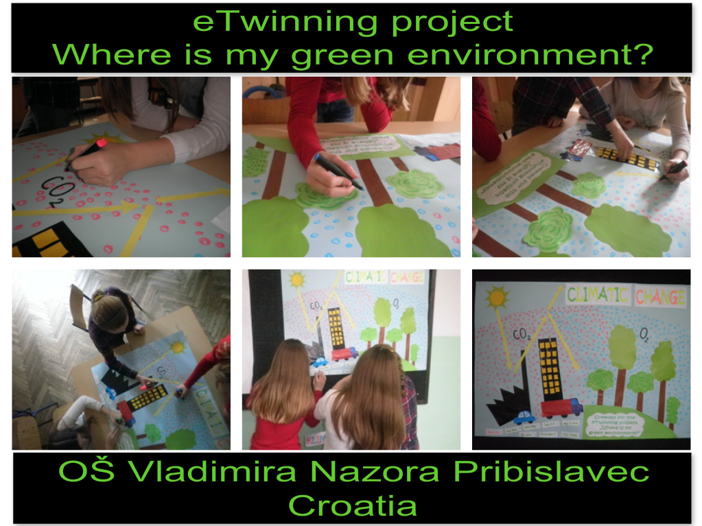 eTwinning project Where is my green environment? - Climatic change
