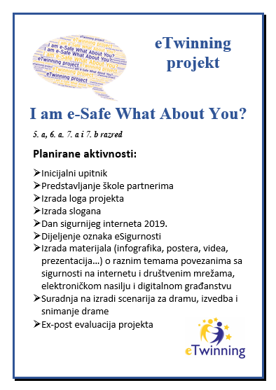 eTwinning projekt I am e-Safe What About You?